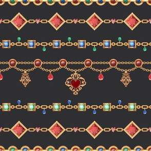 Jewelry Design: Gold & Crystal Beads | Regal