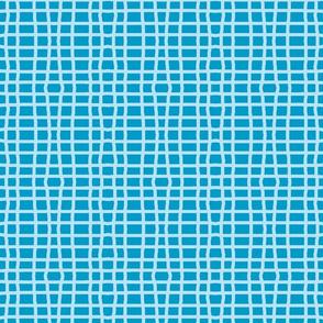 Bright blue squared plaid