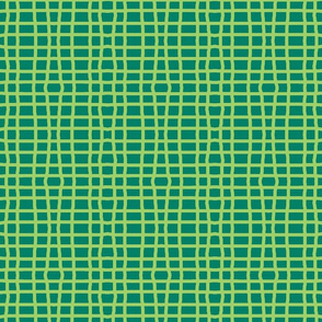 Green squared plaid for quilting