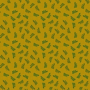 lush garden - green basil on yellow