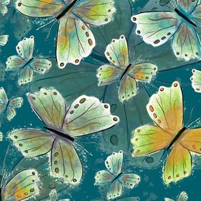 Debs butterfly Turquoise