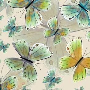 Debs butterfly AgedWhite