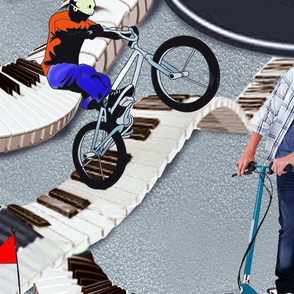 Outdoor action activities on skateboards,cycling,go-cards & mountain-biking