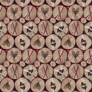 wood with plaid background and ski icons small