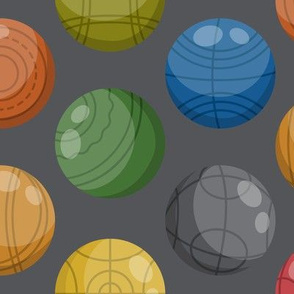 Bocce Ball (Lawn bowling) | Colorful on Charcoal