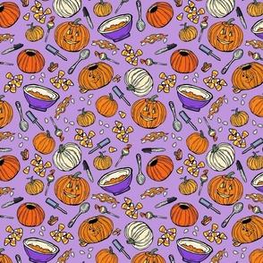 Pumpkin Carving Purple