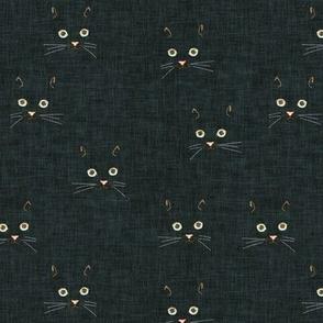 Noir Cat Face (black) SML