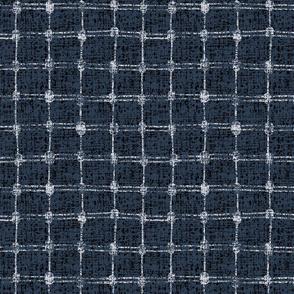tennis net-plaid -navy