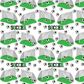 Soccer Nets and Balls Game Pattern