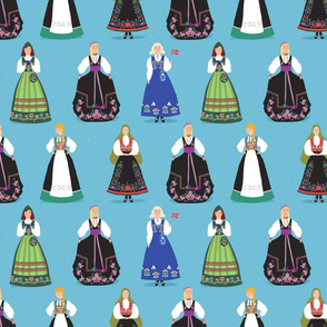 Small Norwegian Bunad Girls