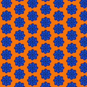 blue paisley flower
