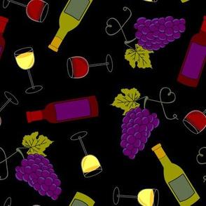 Wine Lover - Black