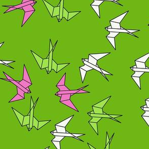 module_paper_swallows_green_white_yellow
