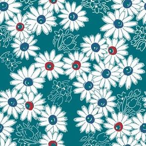Daisy Garden - Teal