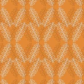 Squiggly Diamonds - orange