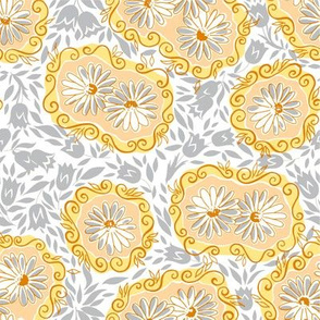 Lacy Daisies - Yellow