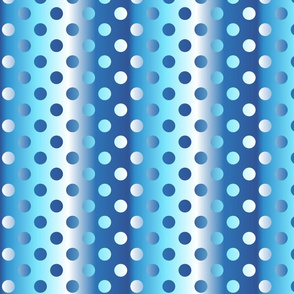 Grande blue shades gradient dots