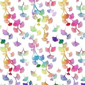 Ginkgo leaves rainbow small