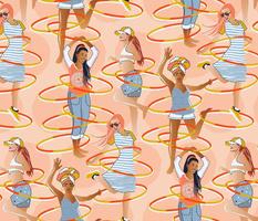 Hula hoop dance / Large scale