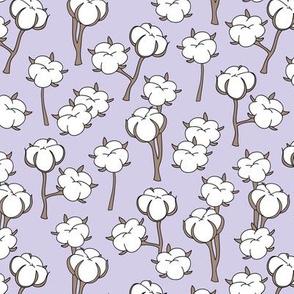 Soft cotton bolls autumn winter garden botanical love soft seventies lilac white  SMALL