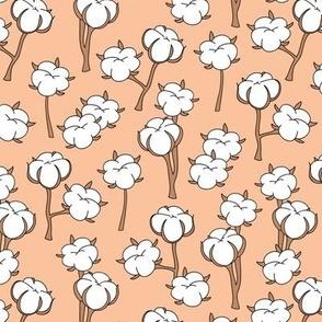 Soft cotton bolls autumn winter garden botanical love soft seventies orange rust retro white