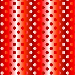 Grande red shades gradient dots