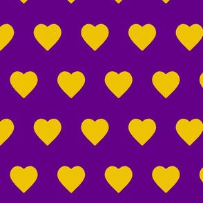 Purple World Gold Hearts (horizontal)