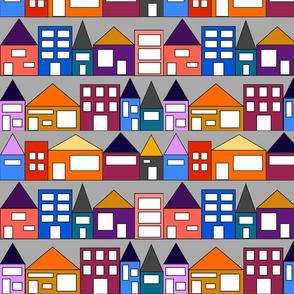 Colorful Houses Small Scale