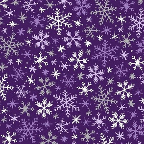 Snowfall (Purple and Silver)