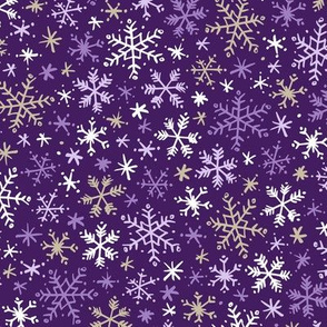 Snowfall (Purple and Gold)