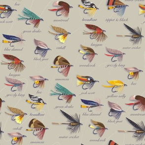 Trout flies - small scale