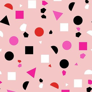 Geo shapes in pink