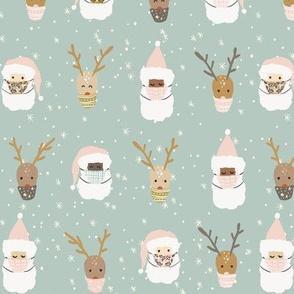 Deer Santa-9x7