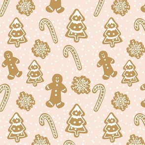 Gingerbread in blush-5.25x5.25