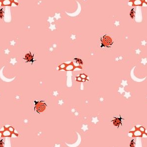 Tiny Toadstools Pink