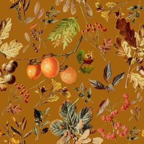 vintage botanical autumn_rust