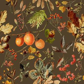 vintage botanical autumn_brown