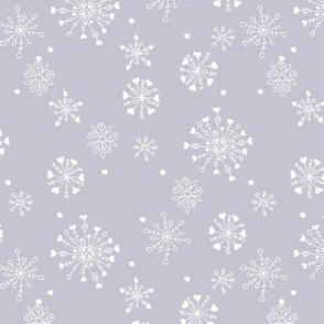 Little snow flake and crystal sparkle abstract winter wonderland design neutral nursery trend lilac gray white