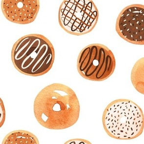 Watercolor Donuts - Neutral