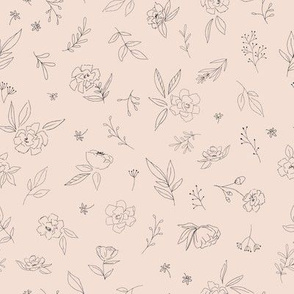Floral Outlines (pink) - M