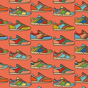 Running Shoes - Coral
