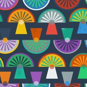 Sliced Mushrooms Multicolor