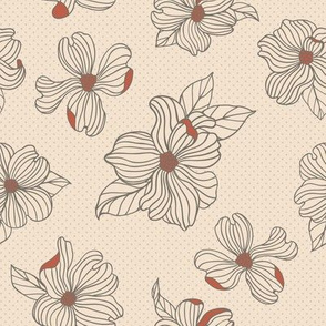 Dogwood Blossoms | White & Persimmon