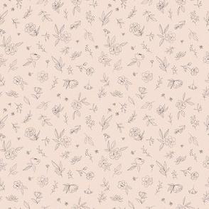 Floral Outlines (pink) - S