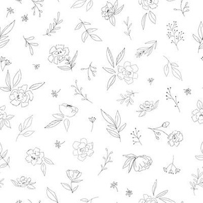 Floral Outlines - M