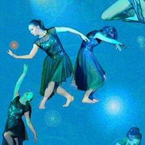 Blue Green Modern Dance