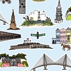 Blue Charleston Landmarks