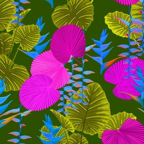 Hawaiian Jungle Bright Colors