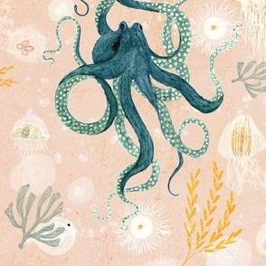 Octopus on blush