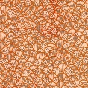 waves orange stamp